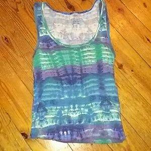 Basic Ribbed Splatter Tie Dye Tank